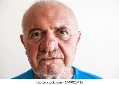 Elderly man face expression concept