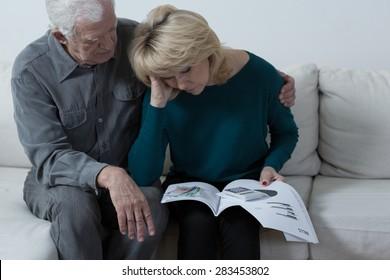 Elderly marriage is worried about their high bills