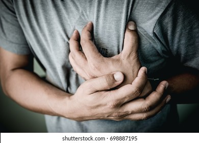 Elderly men with symptoms of acute recurrent heart attack.