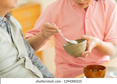 Elderly people to eat