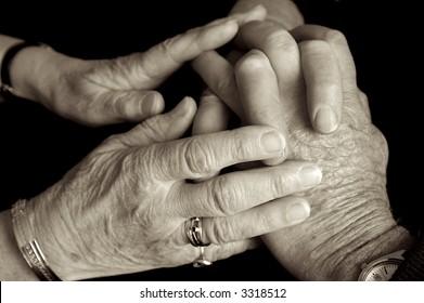 Elderly people loving
