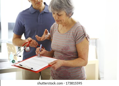 Elderly Person In Consultation