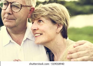 Elderly Senior Couple Romance Love Concept