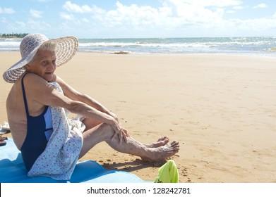 Beach granny nude Granny