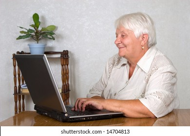 The elderly woman and the computer