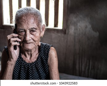Elderly Woman Phone Calling