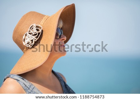 2d239a100793 Elderly Woman Portrait Sea Background Old Stock Photo (Edit Now ...