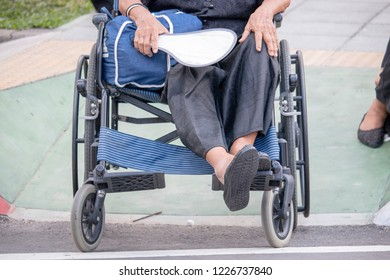 Eldery people on wheelchair