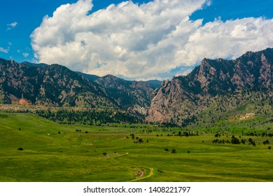 Eldorado Canyon in Boulder County, Colorado on a Sunny Day