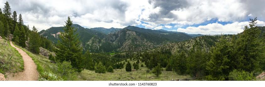 Eldorado Springs mountains trail wide panoramic view