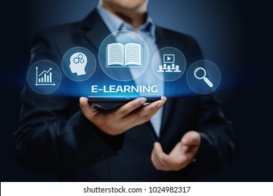 E-learning Education Internet Technology Webinar Online Courses concept.