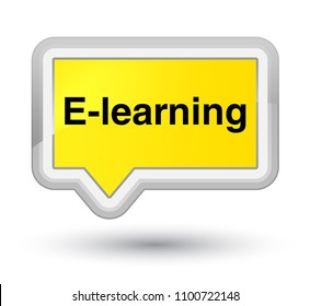 E-learning isolated on prime yellow banner button abstract illustration