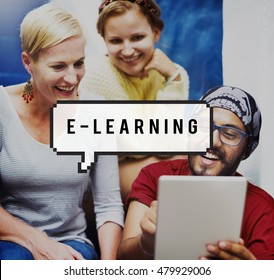 E-learning Online Education Media Concept