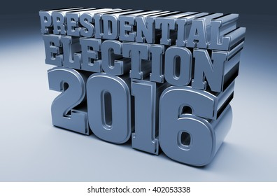 Election 2016  3D Illustration
