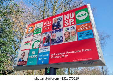 Election Billboard At Amsterdam The Netherlands 2019