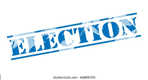 election blue stamp on white background