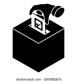Election box icon. Simple illustration of election box icon for web design isolated on white background