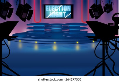 Election Night Television studio, this is a contemporary Election Night Television studio.