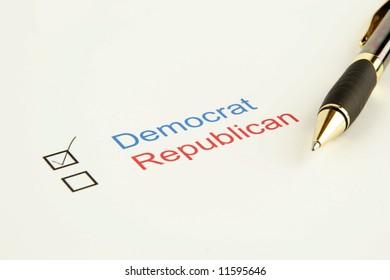 Election vote for Democrat