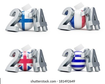elections in France, Britain, Greece, Finland  2014