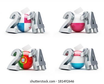 elections in Poland, Portugal, Luxembourg 2014