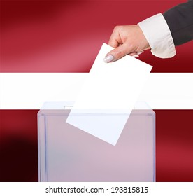 electoral vote by ballot, under the Latvia flag
