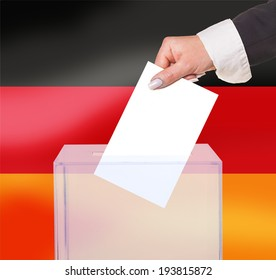 electoral vote by ballot, under the Germany flag