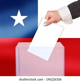 electoral vote by ballot, under the Chile flag