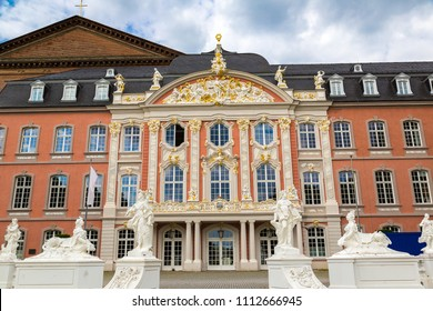 Electorate palace (Kurfurstliches palais) in Trier in a beautiful summer day, Germany