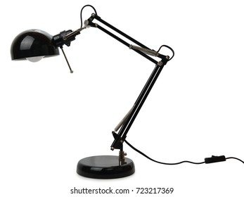 Electric anglepoise lamp isolated on a white background