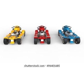 Electric ATVs - back view - 3D Render