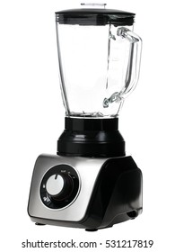 an electric blender on a white background