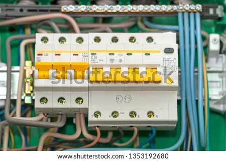 Fabulous Electric Board Circuit Breakers Circuit Breaker Stock Photo Edit Wiring Digital Resources Remcakbiperorg