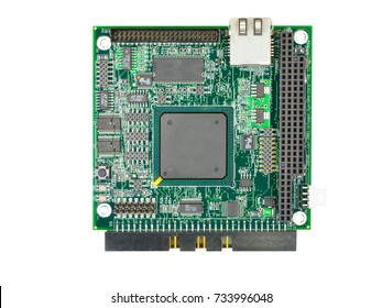 Electric board with microcontroller, relays and SMT components