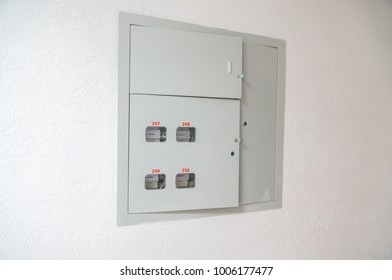 Electric box in the apartment building