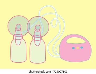 Electric Breast Pump Illustration
