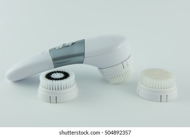 Electric brush cleanser.