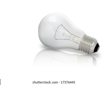 Electric Bulb with reflection on ground