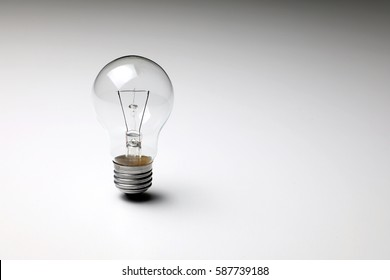 electric bulb standing on the white table