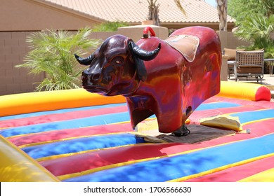 Electric bull ready for a party