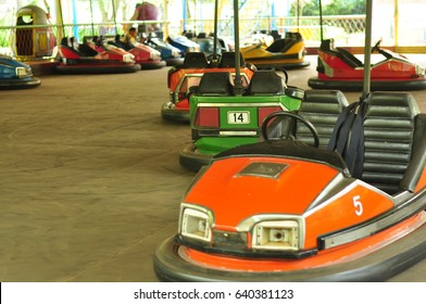 electric bumper cars or dodgem cars