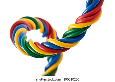 electric cable on a white background