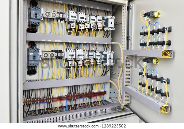 Electric Cable Wiring Supply Switch Board Stock Photo Edit Now 1289223502