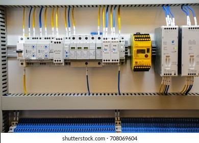 electric cables in a control unit