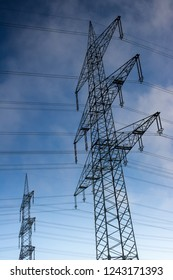 Electric cables over the country