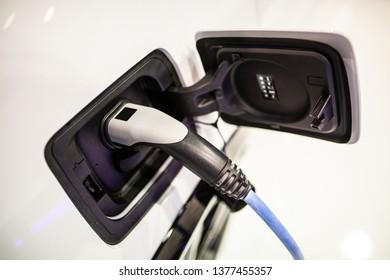Electric car charging socket