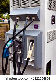Electric Car charging station, Poole, Dorset, England, June 2018