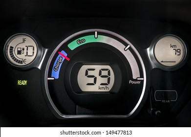 Electric car instrument cluster