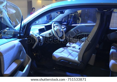 Electric Car Interior Exhibition Eco Drive Stock Photo Edit Now
