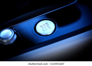Electric car start button